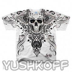 Африканский череп с пикой. Легендарная футболка из США.