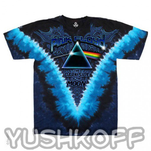 Переходи на темную сторону вместе с Pink Floyd. Легендарная футболка из США.
